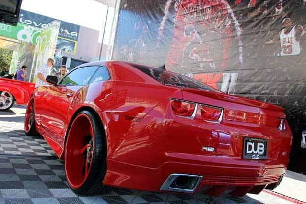 Forgiato Mistos For Wide Body Red Camaro